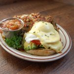 Veggie Benedict with veggie potatoes