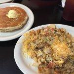Wow.... best breakfast in Lubbock. Southwestern Scrambler.