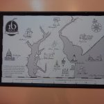 16 Mile Brewery map on wall