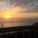 sun set from balcony