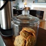 Homemade cookies. Cooking is Jessica's form of meditation, so maybe you'll g enlightened eating