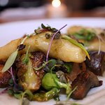 Pierogies with Brussels Sprouts