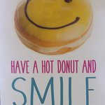 Have a hot donut and try not to smile and make yummy sounds. I dare you.