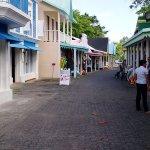 shopping plaza at the resort