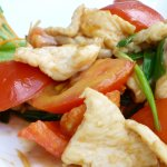 Chili Chicken with Tomatoes - a Singaporean cusine
