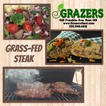 Grass-fed steak grilled to perfection!