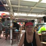 Neat bar in Caye Caulker! Lobster crevice is wonderful. Wife had the quesadillas and sweet potat