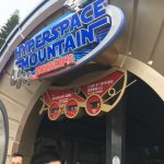 the new Hyper Space Mountain sign