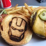 an ironman burger