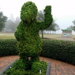 Cute topiary gator