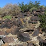 Boulder field with petroglyphs at Charlie Bell Well