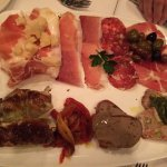 Charcuterie of veal breast, salamis, short rib, prosciutto, and pate