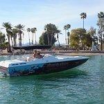 A pretty speed boat