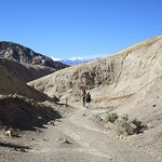 Starting down the canyon from Zabriskie Point