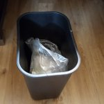 Bags for wastebaskets were too small--throw one thing in them that happens