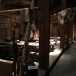 Interior of the living quarters of the longhouse.