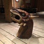 Serpent sculpture on display