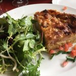 Quiche Lorraine (so moist and divine) with salad