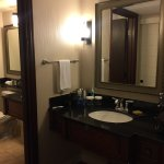 Double bathroom vanities.