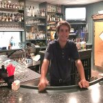 The bar is busy, handsome, and well-stocked; managed by the very skilled Bobby