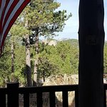 View of Mt. Rushmore from front porch