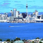 Auckland from across the harbor.