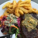 Scotch Fillet, slaw and chips