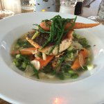 Fish with mussels and broth