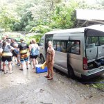 Van full headed up to Titou Gorge.