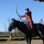 Traditional equestrain demontrations-archery