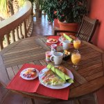 Breakfast served on the balcony!