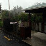 Entrance from car park
