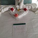 Nice note from Erica our housekeeper