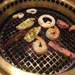 Shrimp & steak on the grill