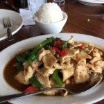 Ad'Kha'Prao with rice