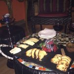 Soul mate cheese platter, wine and a hookah