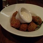 Deep fried olives stuffed with feta