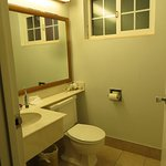 Not a fan of sink & vanity inside bathroom, unless an additional one outside as well!