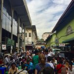 Hustle and bustle in the area where the gems are traded