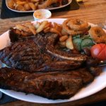 Couldn't believe this 32oz Rubye steak only £19.99, chargrilled with all the trimmings loved it