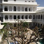 Serene is one adjective to give of the stately Amet Haveli. The rooms and bathrooms are updated,