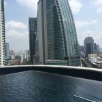 Pool area facing city.Spectacular views!