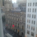 Bourke St side. View from room 814.