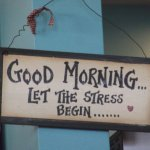 This made us smile - certainly no stress here!