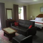 Executive suite, big room with sofa.