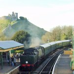 Corfe Castle Station 20 minute ride away from Swanage