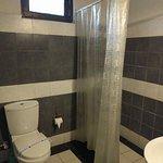 grimy shower curtain, super weak shower
