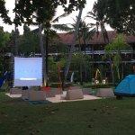 outdoor movie set up!