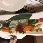 Sashimi platter with fresh oyster