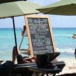 their menu along the beach